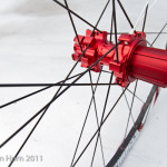 Detail of the rear hub on the Sun Charger Pro.