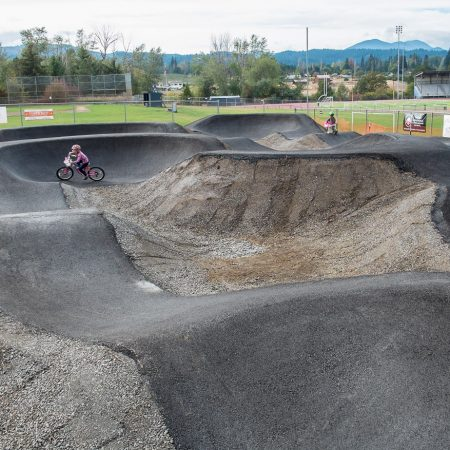 image for First Look: the New Paved Pump Track at the Golden Eagle Park Pump Track in Hood River