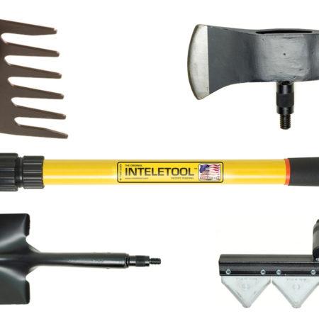 image for Inteletool Interchangeable Head Tool with Telescopic Handle