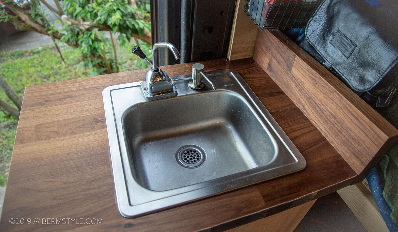Vanlife Part 5 Camper Van Kitchen Sink On A Budget