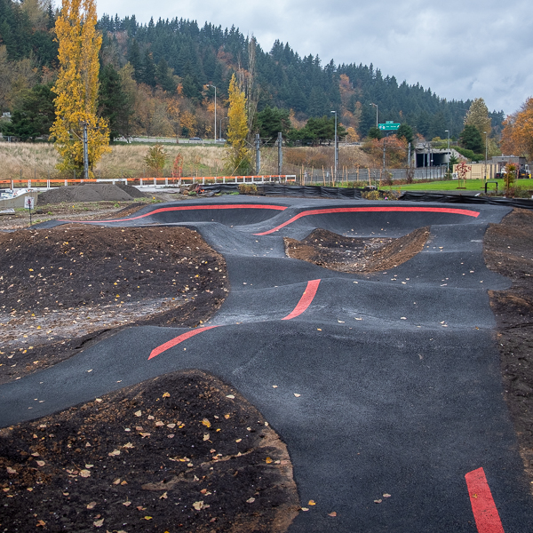 It's official - an asphalt Velosolutions Pumptrack  in Portland, OR feauted image